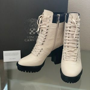 Vince Camuto Warm White Boots
